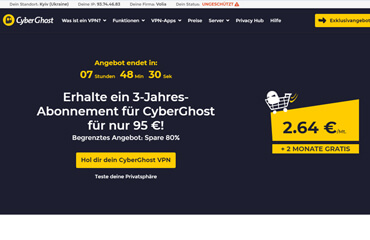 CyberGhost Pros und Contras