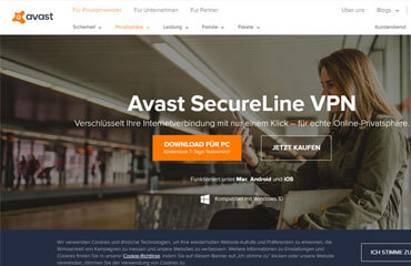 AvastSecureLine VPN Test
