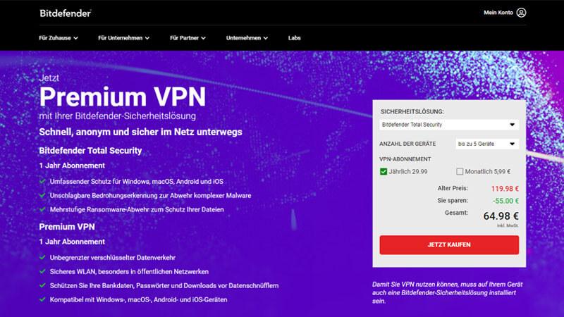 Bitdefender VPN Testbericht