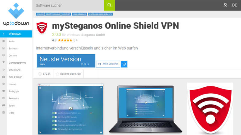 Steganos Online Shield VPN Testbericht