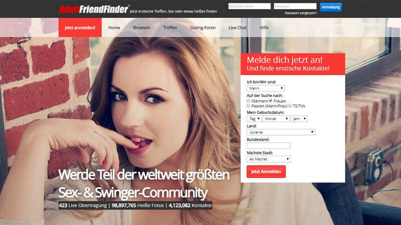 Usability-test für eine adult dating-website