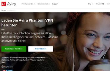 Avira Phantom VPN test online