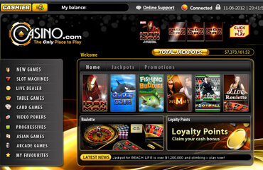 Casino.com test online