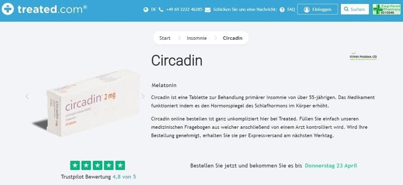 Circadin (Melatonin) mit Online Rezept