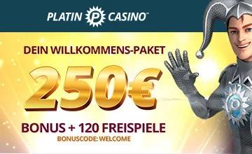 Platin Casino - Hol dir jetzt den Casino-Bonus!