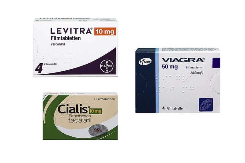 Cialis, Levitra oder Viagra
